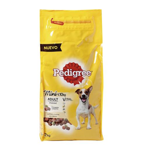 PEDIGREE alimento para perros de raza pequeña con pollo bolsa 2 Kg