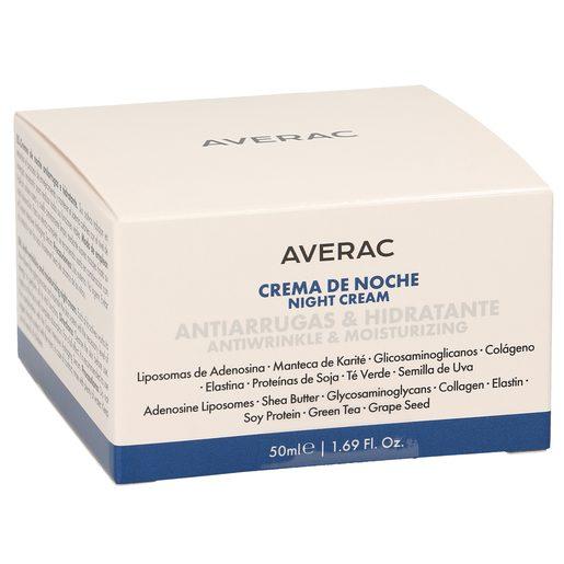AVERAC crema facial de noche hidratante antiarrugas tarro 50 ml