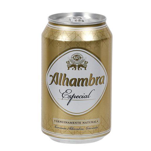 ALHAMBRA cerveza rubia nacional especial lata 33 cl