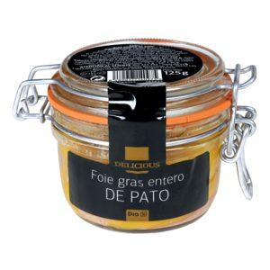 DIA DELICIOUS foie gras entero de pato tarro 125 gr