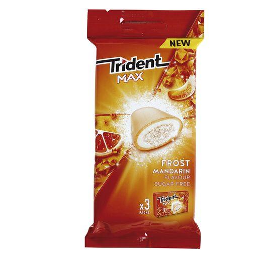 TRIDENT chicle max sabor mandarina paquete 3 uds