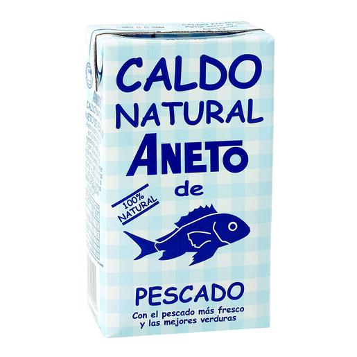 ANETO caldo natural de pescado envase 1 lt