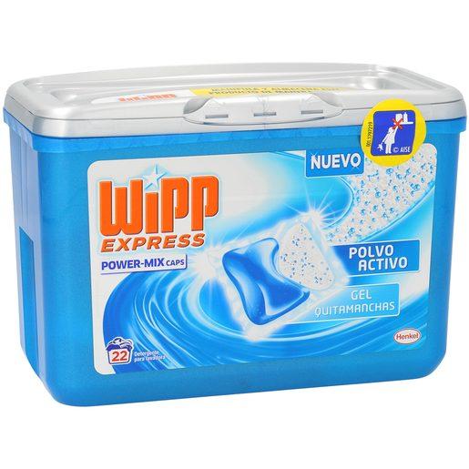 WIPP EXPRESS detergente máquina gel quitamanchas en cápsulas 22 uds