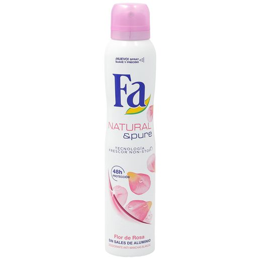 FA desodorante natural & pure flor de rosas spray 200 ml