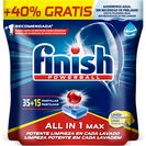 FINISH lavavajillas máquina todo en uno limón en cápsulas bolsa 50 uds