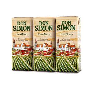 DON SIMON vino blanco pack 3 unidades 180 ml