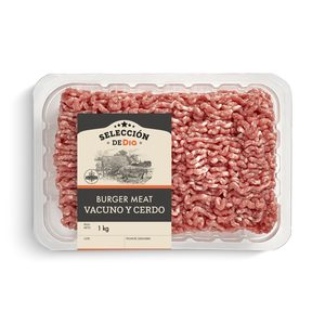 SELECCIÓN DE DIA preparado de carne picada de cerdo y vacuno bandeja 1 Kg