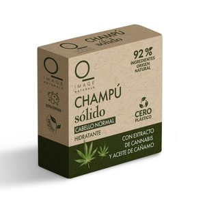 DIA IMAQE Naturals champú sólido hidratante con cannabis y aceite de cáñamo 60 gr