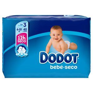 DODOT Azul pañales 6-10 kgs talla 3 paquete 40 uds