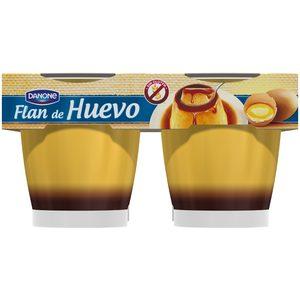 DANONE flan de huevo pack 4 unidades 110 gr