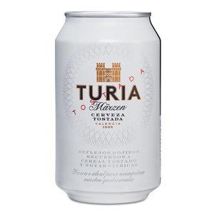 TURIA cerveza tostada lata 33 cl