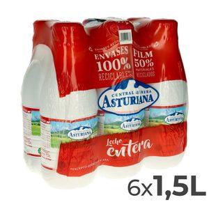 ASTURIANA leche entera botella 1.5 lt PACK 6