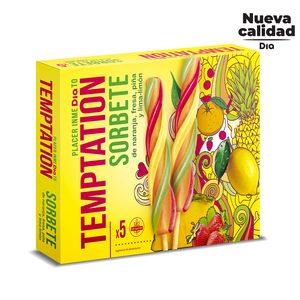 DIA TEMPTATION helado sorbete con zumo de frutas caja 5 uds 450 gr
