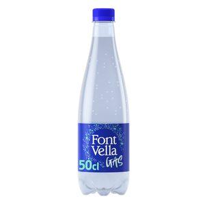FONT VELLA agua con gas botella 50 cl
