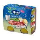 HERO Baby buenas noches guisantes con jamón tarrito 2x190 gr