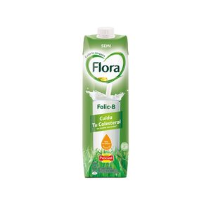 FLORA Folic B leche semidesnatada envase 1 lt