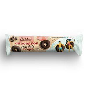 DIA GALLETECA chocoaros de chocolate negro paquete 150 gr
