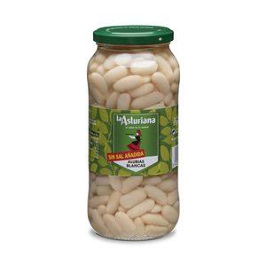 LA ASTURIANA alubia cocido sin sal frasco 400 gr