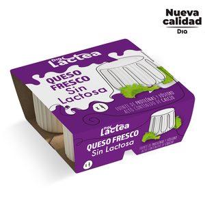 DIA LACTEA queso fresco sin lactosa pack 4 uds x 62,5 gr